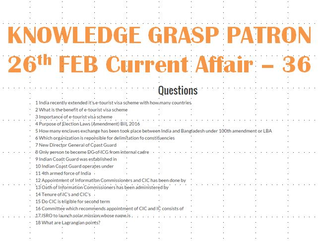 gk questions from current affairs